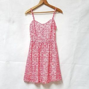 Charlotte Russe Red White Floral Summer Dress XS